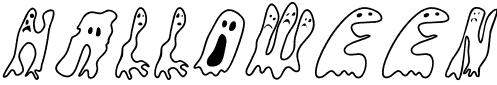 Coloriages fantômes pour Halloween