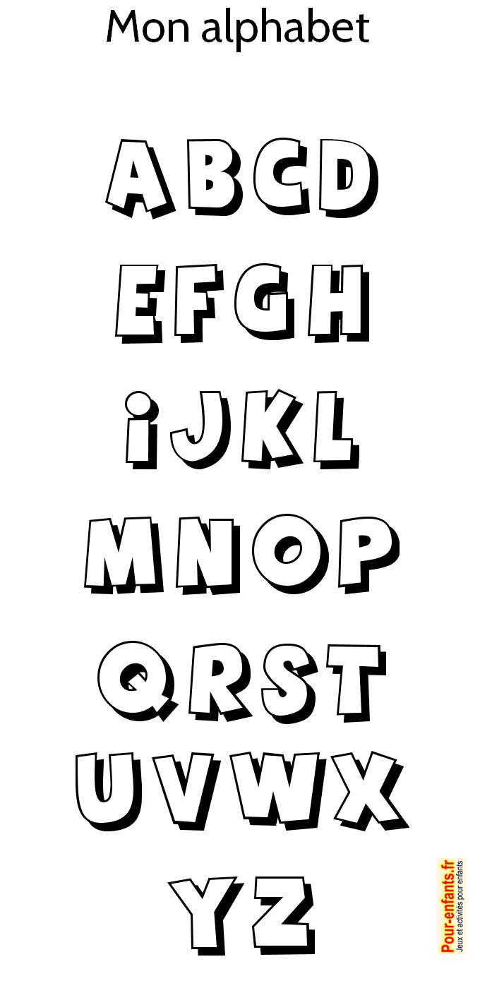 Alphabet imprimer pour colorier coloriage des lettres - Abecedaire a colorier ...